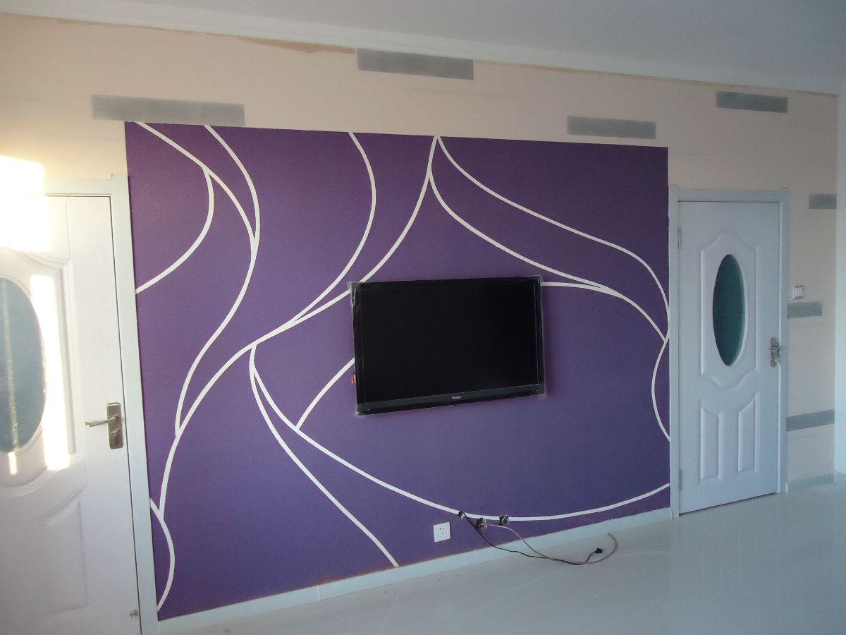 硅藻泥造型影视墙图案