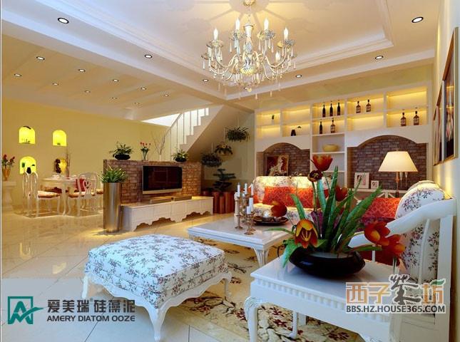 硅藻泥装修的客厅效果图