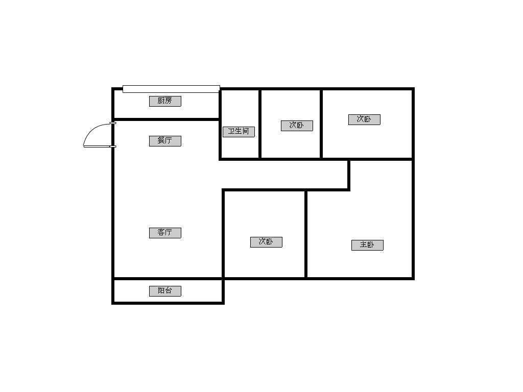 农村平房四室两厅平面设计图