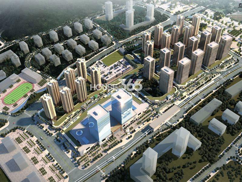 重庆巴南万达广场项目整体鸟瞰图