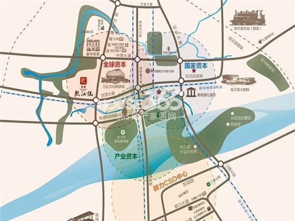 泰豪·熙江悦交通图