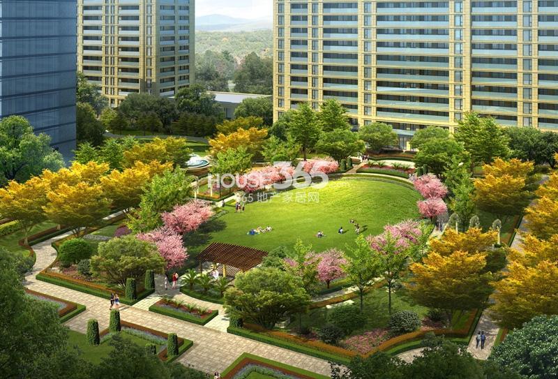 绿城地产入口景观设计