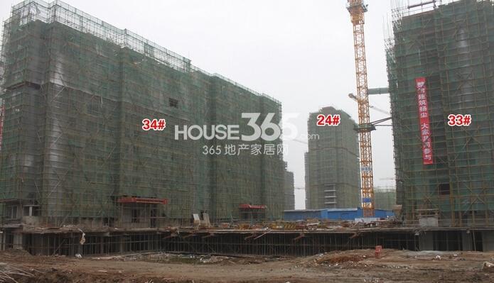 华强城美加印象33#、34#楼工程进度(2015年2月摄)