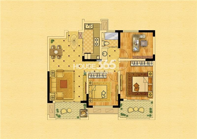 中南锦苑89㎡-12#楼-三室两厅一卫