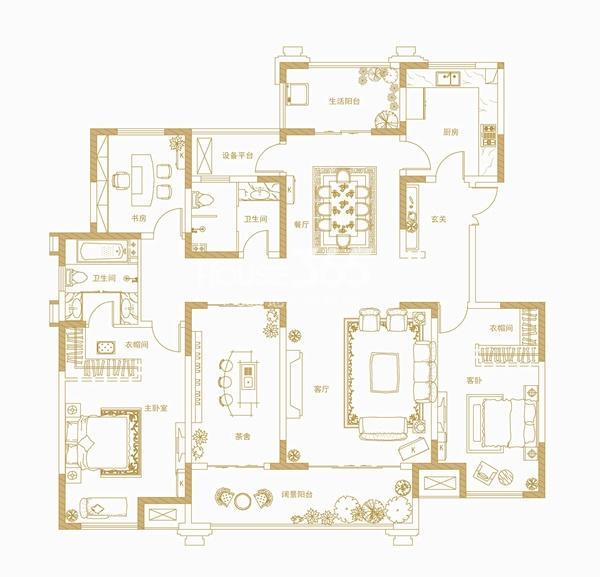 中海开元壹号郡六栋官邸12#楼户型图
