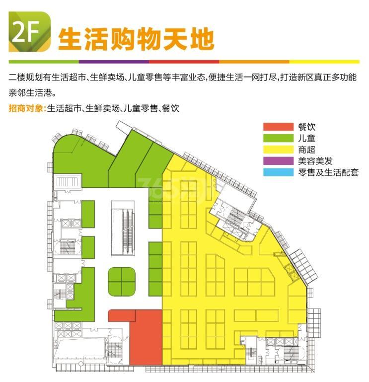 利华广场二楼平面业态分布图