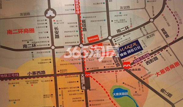 绿地悦公馆交通图