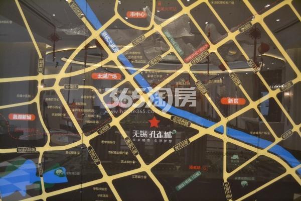 无锡孔雀城交通图