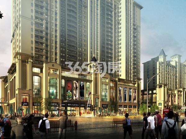 天山熙湖商业广场效果图
