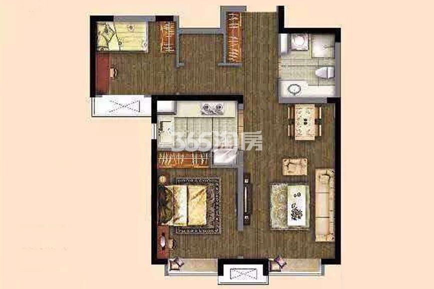 高层标准层86㎡ 2室2厅1卫