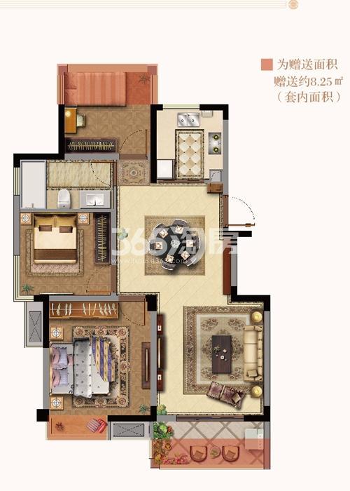 银亿东城9街区新洋房A2户型图