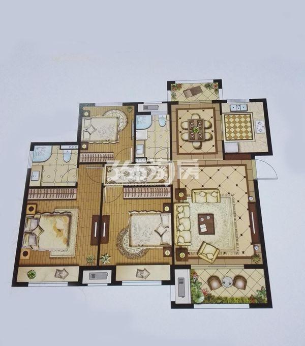 盛世孔雀城126㎡三房两厅两卫