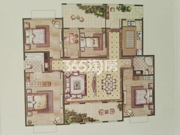 小高层3层C户型五室两厅两卫