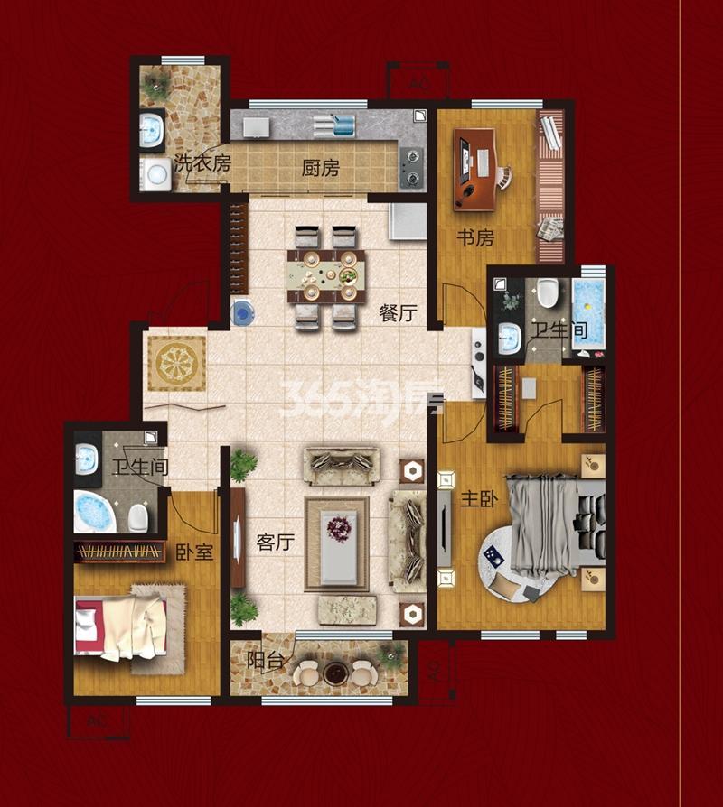 洋房136 三室两厅两卫