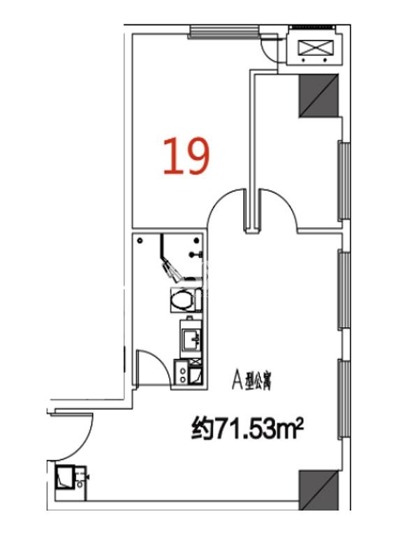 19户型71.53平米