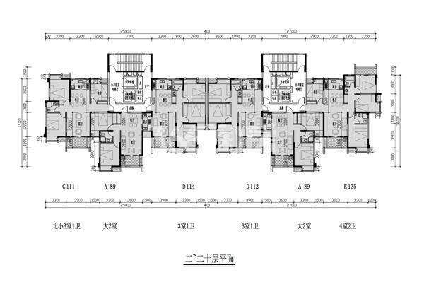凤翔锦府4#楼平面图
