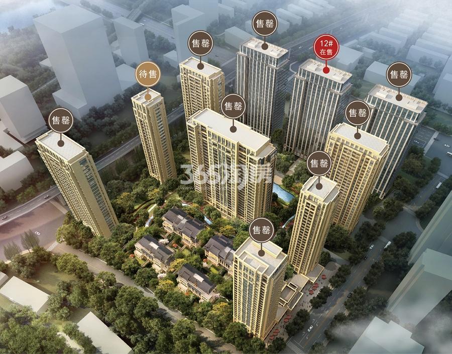 滨江华家池楼栋分布图(2017年2月)