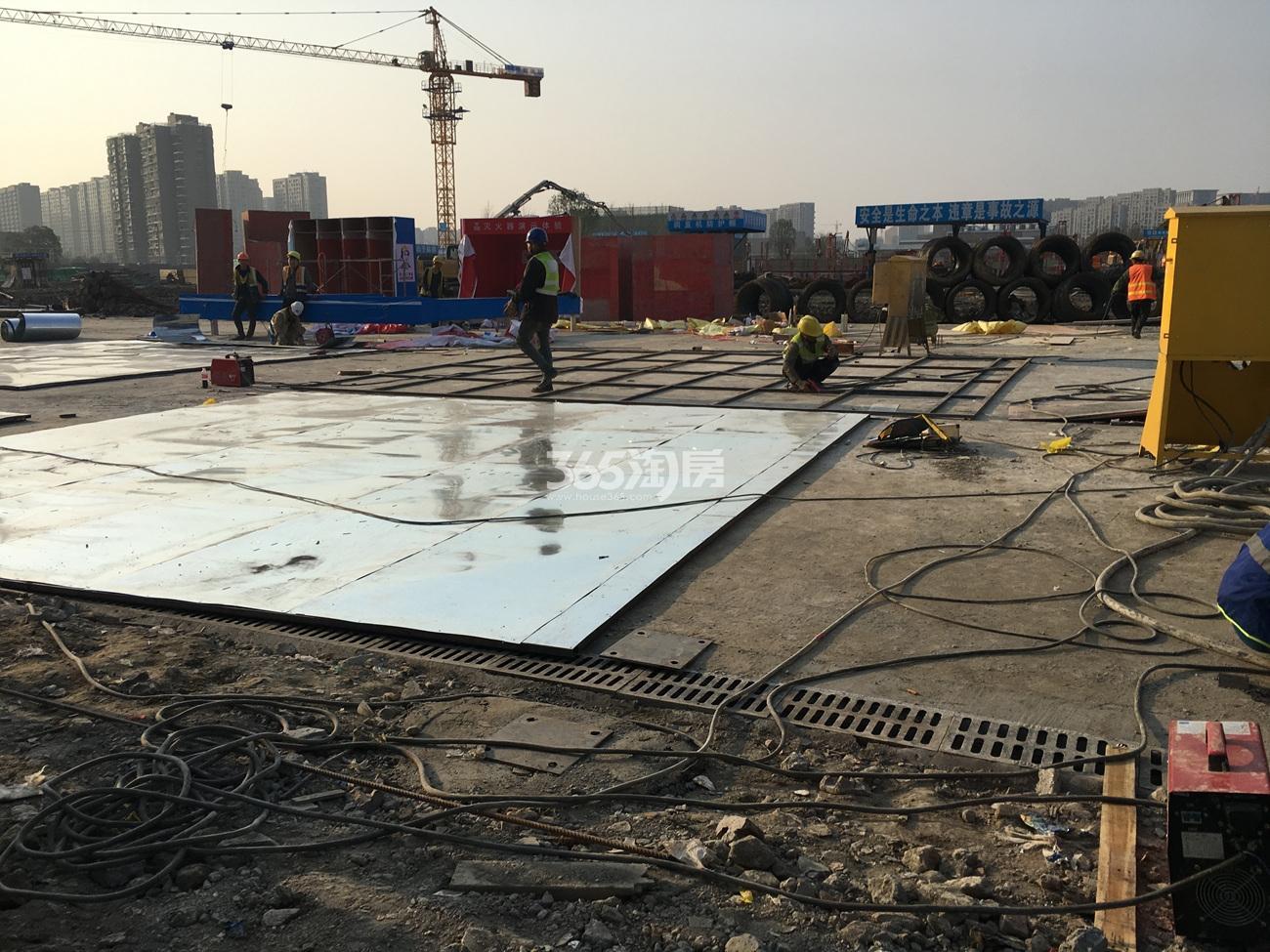 2017年3月首开杭州金茂府施工现场