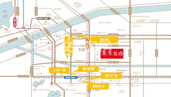 滨江新城东方名府交通图