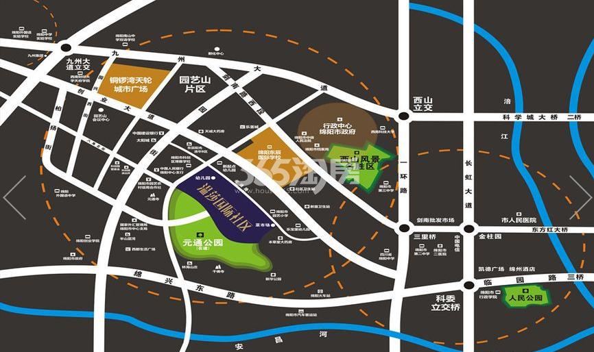 温莎国际社区交通图