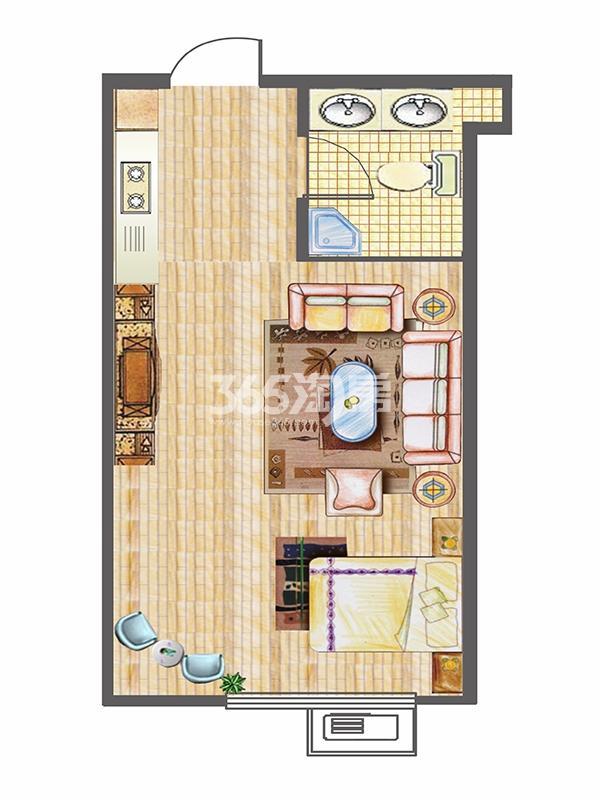 G1户型45㎡一室