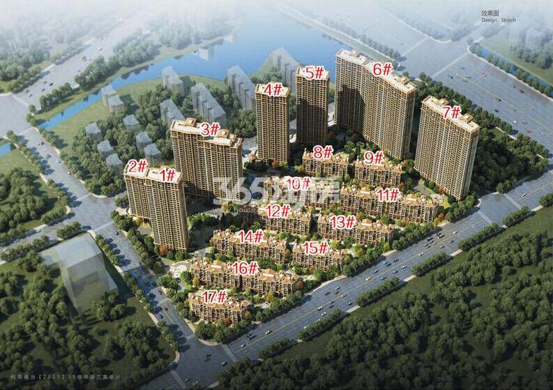 中国铁建西湖国际城项目整体鸟瞰图