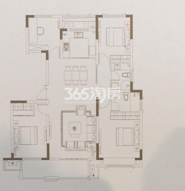 洋房三层复式133㎡