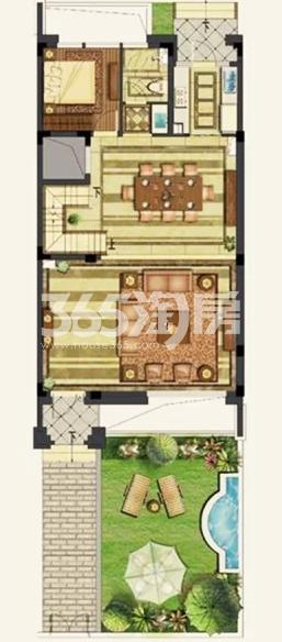 正荣国领一楼户型图 面积:300.00平