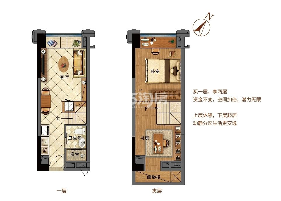 佛奥天佑城25平LOFT公寓A户型