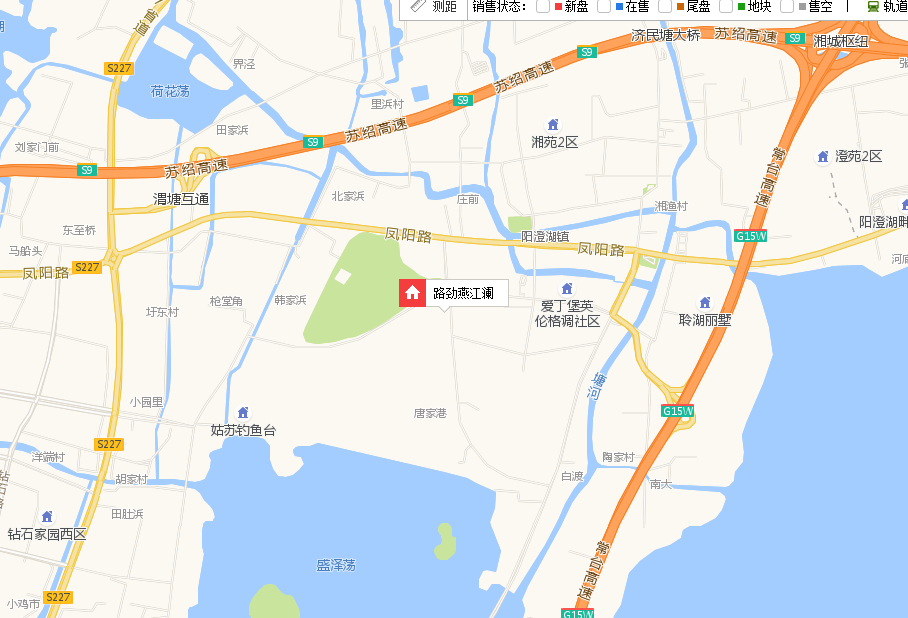 路劲燕江澜交通图