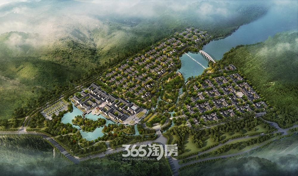 中国院子万振紫蓬湾鸟瞰图