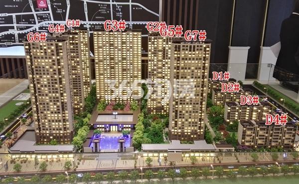 万科翡翠天御城市沙盘实景图(5.16)
