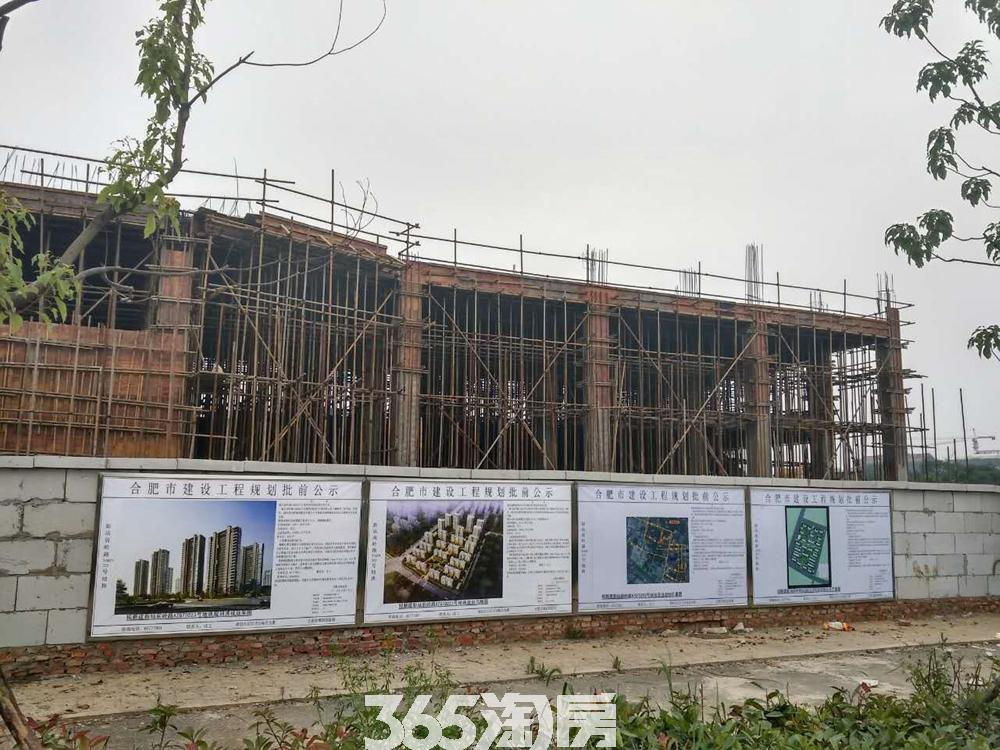少荃府售楼部在建外立面实景图(2017.7)