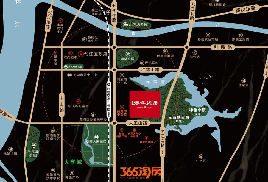 碧桂园塘溪源著交通区位图