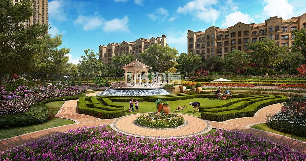 中国铁建西湖国际城项目景观效果图