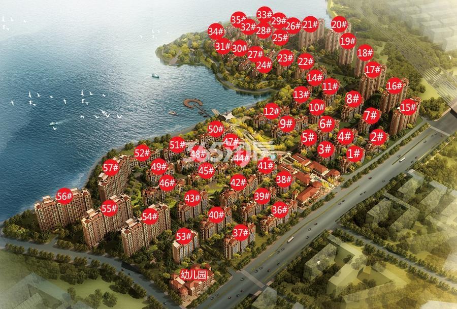 华强城颐景湾畔藏湖楼栋分布示意图