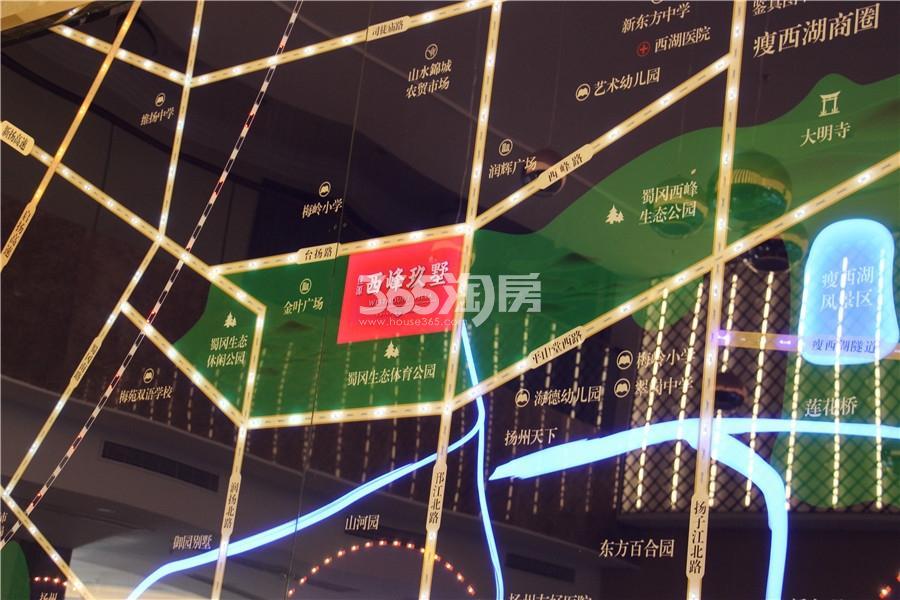 佳源西峰玖墅销售中心区位图实景