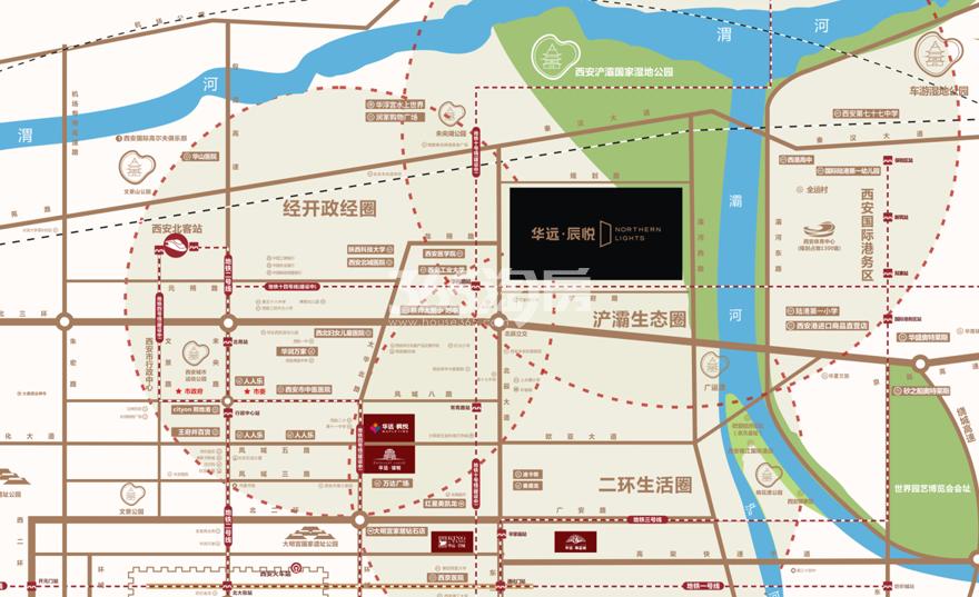 华远辰悦交通图