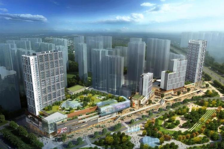 汉华城甜心广场鸟瞰图