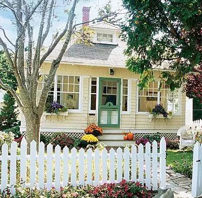 带花园的房子才算美,可惜只有农村才有!