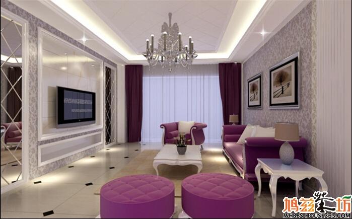 【柏庄春暖花开】最新三室两厅装修效果图!现代欧式!